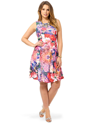 Rosewater Fit & Flare Dress