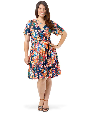 Fancy Floral Printed Wrap Dress