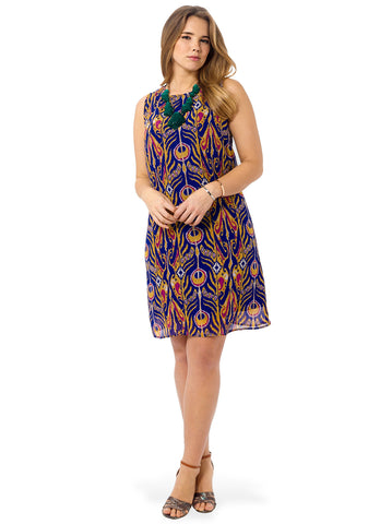 Ikat Sleeveless Shift Dress