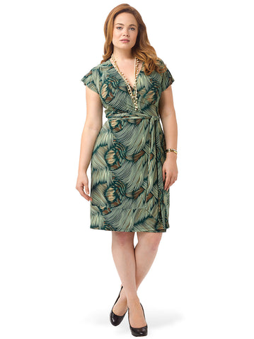 Geneva Wrap Dress In Paima Print