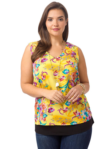 Fancy Floral Cut Out Top