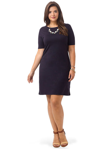 Scoop Back T-shirt Dress In Navy