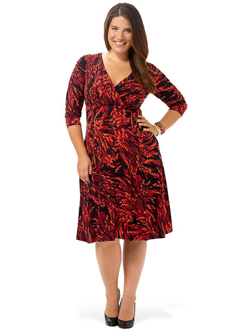 Leaf Printed Fit & Flare Dress