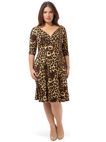 Francesca Dress In Mocha Leopard