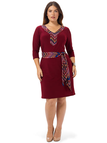 Gillian Dress In Burgundy