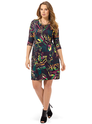 Rainbow Fern Shift Dress