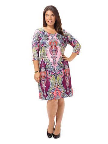 Passion Paisley Shift Dress