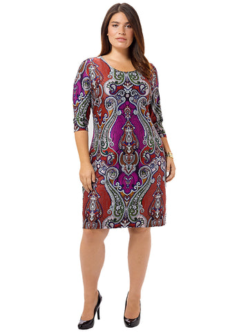 Parisian Paisley Shift Dress