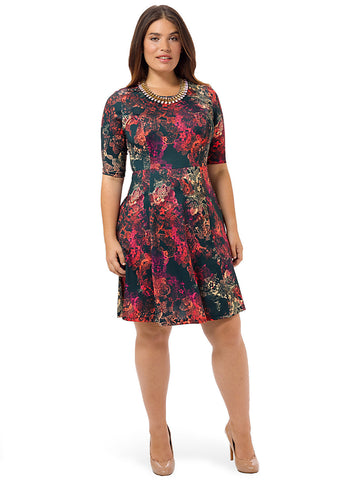 Carina Nebula Fit & Flare Dress