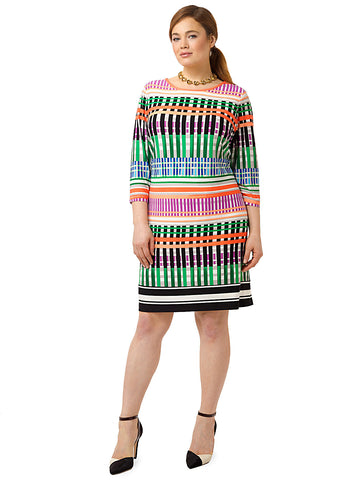 Multi Striped Shift Dress