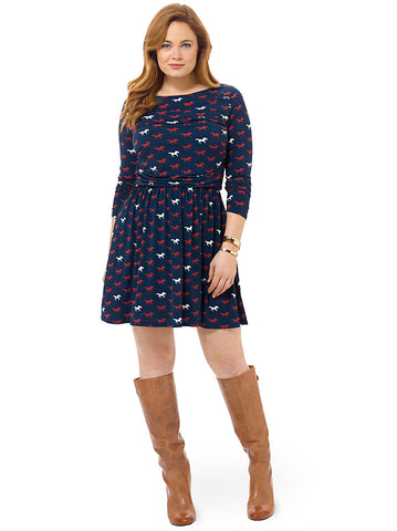 Amelia Dress In Thoroughbred