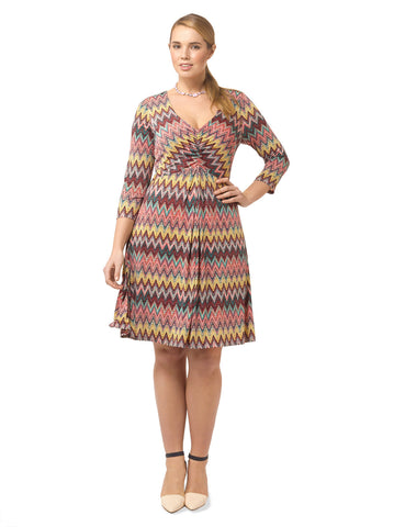 Spring Forward Dress In Chevron Print