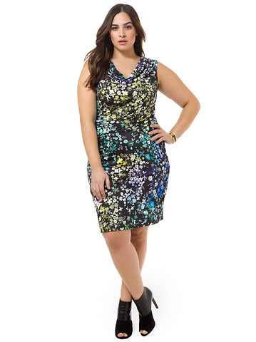 Night Blossom Ruched Dress