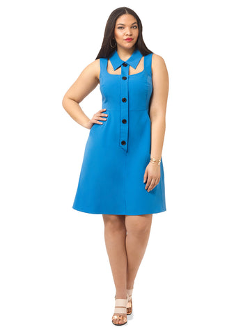 Marcia Dress In Blueberry