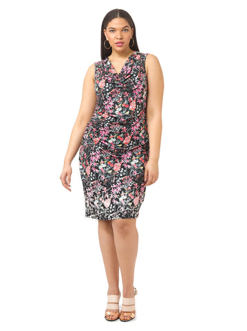 Floral Printed Ruched Dress