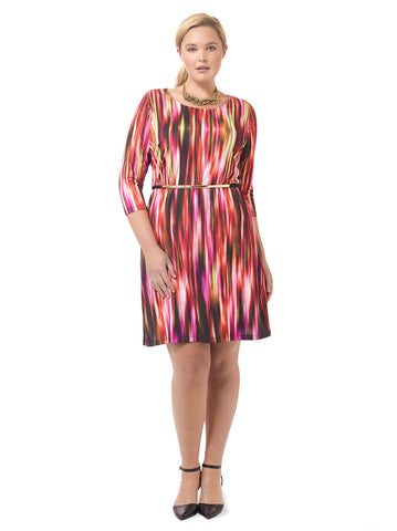 Cascading Fuchsia Shift Dress
