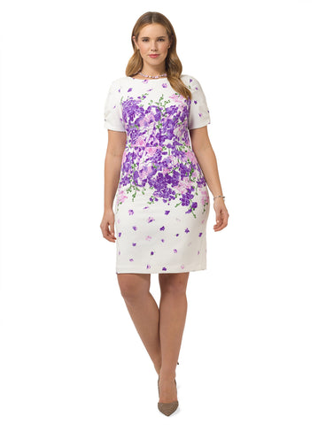 Garden Party Placed Floral Dress
