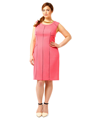 Splice Trim Sheath Dress