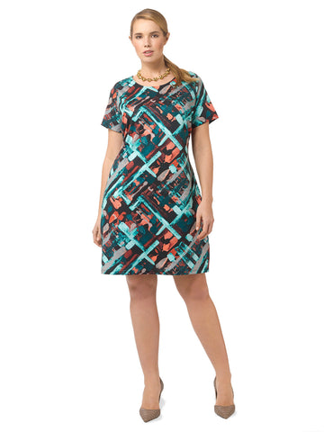 Abstract Cityscape Shift Dress