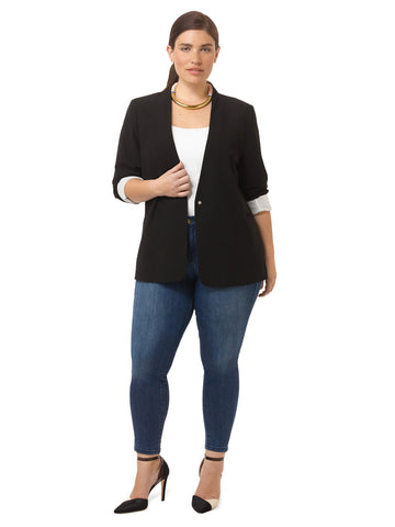 Collarless Boyfriend Blazer