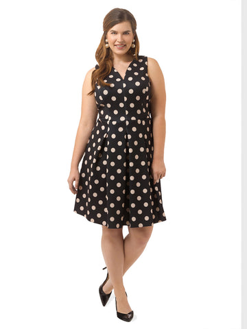 Tessa Dress In Polka Dot