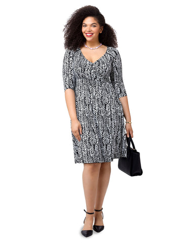 Francesca Dress In Antiqued Noir