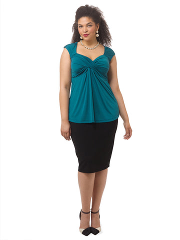 Marilyn Top In Bombay Teal