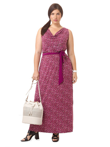 Seneca Maxi Dress In Fuchsia Flame