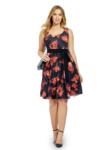 Midnight Rose Bloom Dress