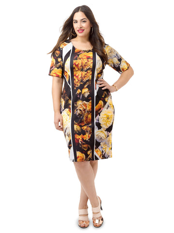 Moody Blooms Bodycon Dress