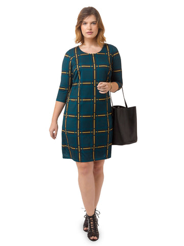 Chic Plaid Printed Shift Dress