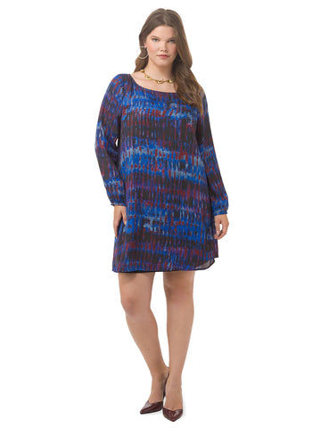 Florence Abstract Shift Dress