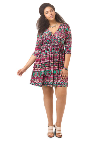 Sativa Dress In Aztec Print