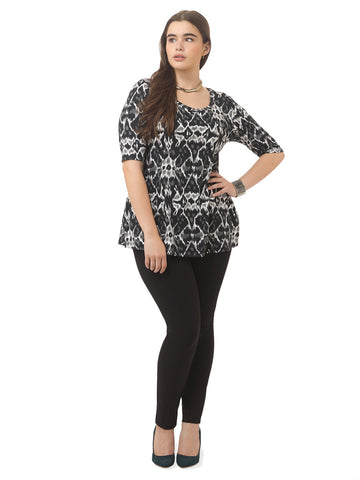 Thea Tunic In Abstract Animal Print