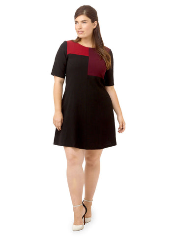 Colorblock Swing Dress