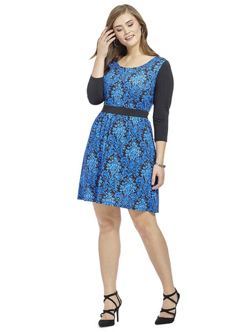Royal Demask Printed Chelsea Dress