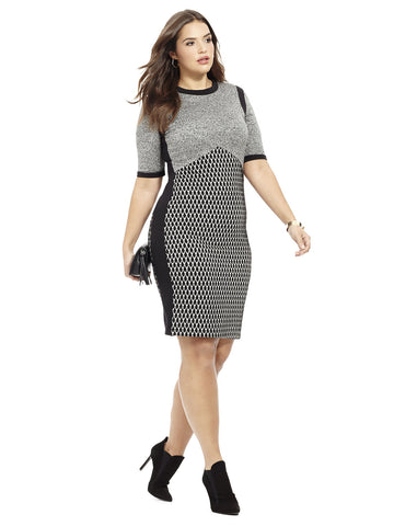 Dress In Textured Jacquard