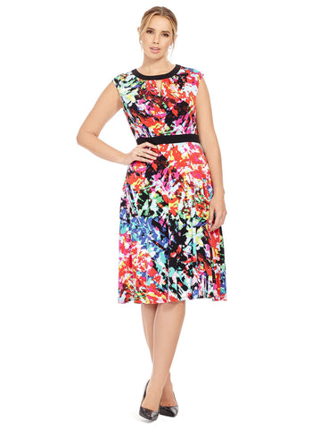 Splash Medley Fit & Flare Dress