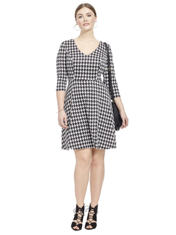 Skater Dress In Houndstooth