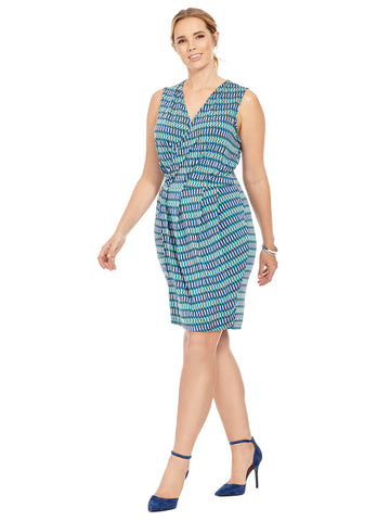 Lizzie Wrap Dress In Lapis Lazuli