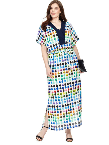 Painted Palette Drawstring Maxi Dress