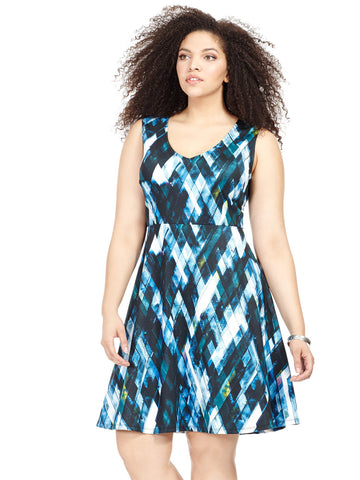 Geometric Printed Juliet Dress