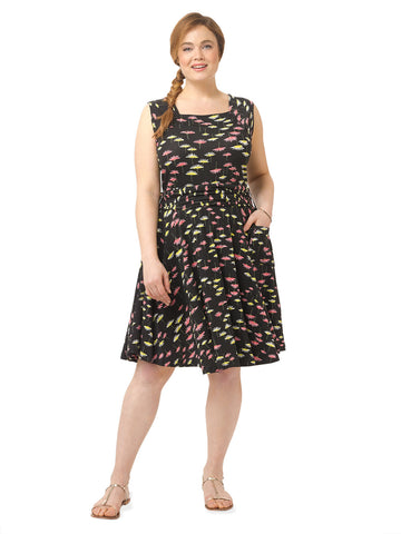 Dolce Vita Dress In Wild Flower Print