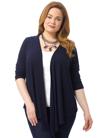 Abby Twist Front Top Purple TTB Discount