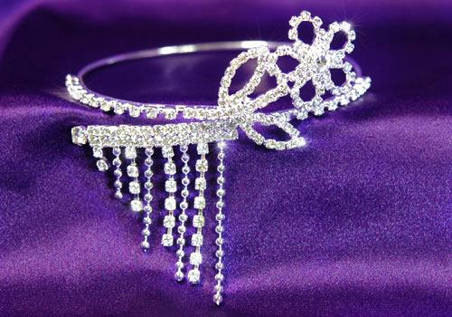Prom Flower Crystal Upper Arm Bracelet / Armlet A005