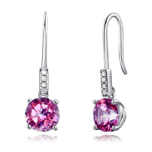 Load image into Gallery viewer, 14K White Gold Stud 2.5 Ct Natural Pink Topaz Earrings