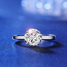 Load image into Gallery viewer, 14K White Gold 1 Carat Forever One Moissanite Diamond Wedding Engagement Ring