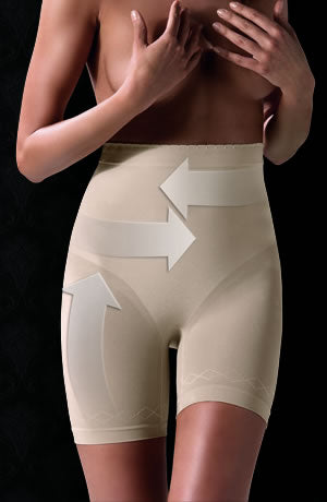 Control Body 410465G Shaping Short Bianco