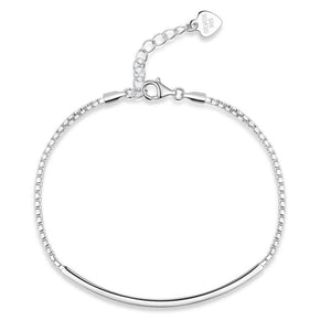 Rebel. Solid 925 Sterling Silver Bracelet Fashion Birthday and Wedding Gift XFB8026