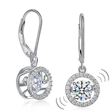 Load image into Gallery viewer, Dancing Stone Dangle Drop Earrings 925 Sterling Silver Wedding Gift XFE8130